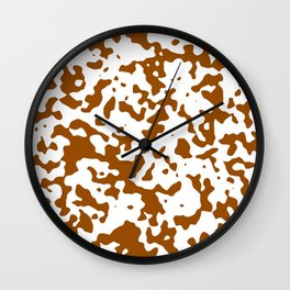 Spots - White and Brown Wall Clock