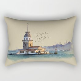 Istanbul Maiden Tower Rectangular Pillow