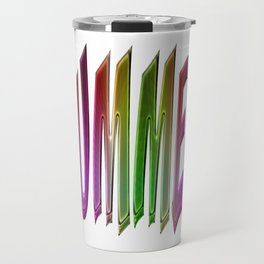 Summer Text Colorful Rainbow Gradient Typography Travel Mug
