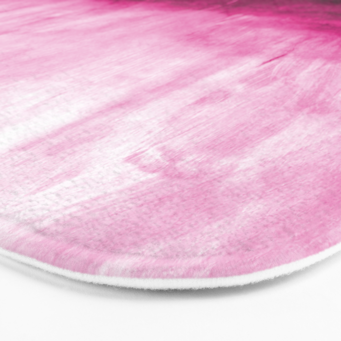 Paint 7 pink abstract painting ocean sea minimal modern bright colorful dorm college urban flat Bath Mat