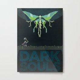Pixel Art - Dark Souls Moonlight Butterfly Metal Print
