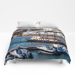 Mykonos, Greece. Comforters
