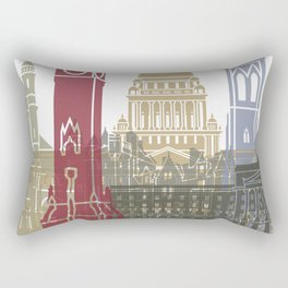 Belfast skyline poster Rectangular Pillow