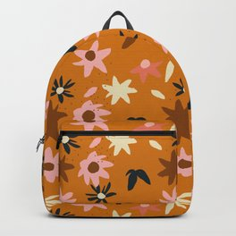 Fall flowers pattern Backpack