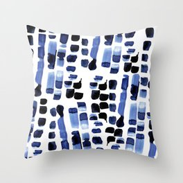 Blue Swatches Throw Pillow