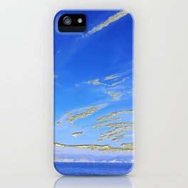 Mediterranean sky with mountains iPhone Case