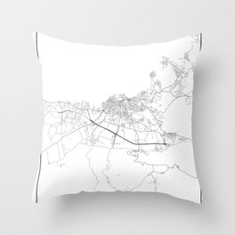 Minimal City Maps - Map Of Chania, Greece. Throw Pillow