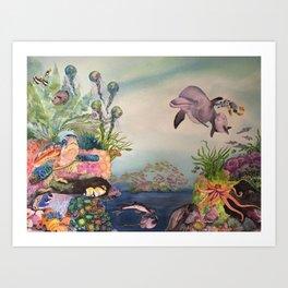 Journey Under the Sea by Maureen Donovan Art Print