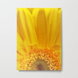 Pearls of color, drops of yellow Metal Print