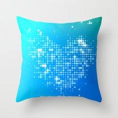 Heart2 Blue Throw Pillow