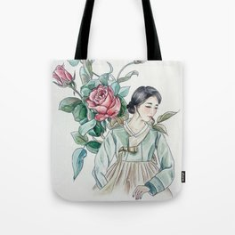 Roses (Hanbok girls) Watercolor Tote Bag
