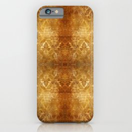 AGED GOLDEN DAMASK  iPhone Case