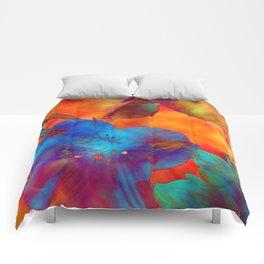 Psychedelic Bouquet Comforters