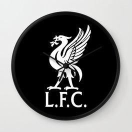 LFC White Logo Wall Clock