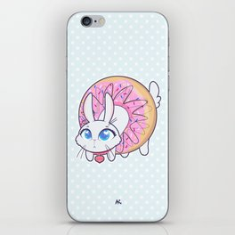 Bunnies - donut iPhone Skin