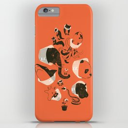 Cones of Shame (orange) iPhone Case