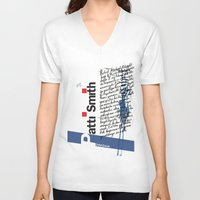 calligraphy V-neck T-shirts featuring Calligraphy 2 by omerfarukciftci