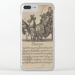 Game of Geography - Europe (Stefano della Bella, 1644) Clear iPhone Case