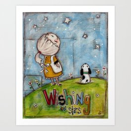 Wishing on Stars - by Diane Duda Art Print