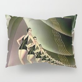 'We Came Here to Shine' - Billy Rose's Acquacade Art Deco 1920's Theatrical Portrait Pillow Sham