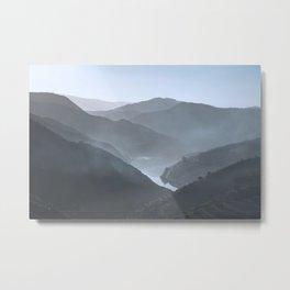Blue landscape Vale do Douro, Portugal. Metal Print