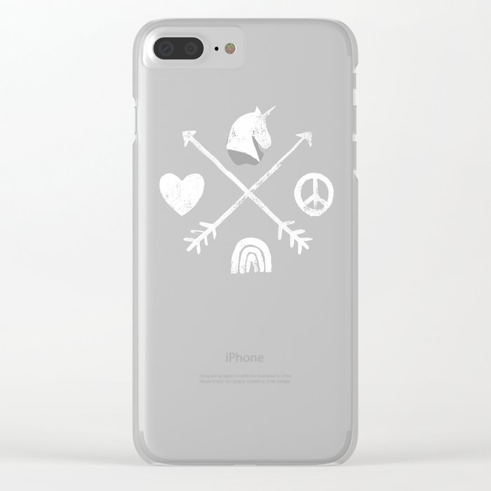 Sugar and Spice Compass Clear iPhone Case