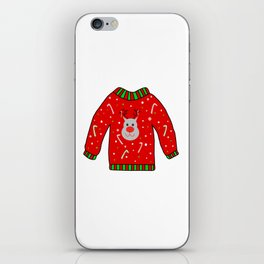 Ugly Christmas Sweater iPhone Skin
