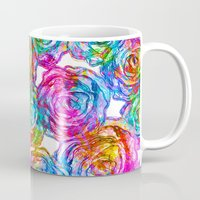 roses Mugs featuring Roses by Aloke Design