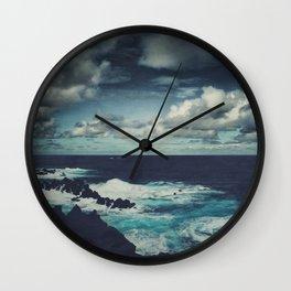 Wild Atlantic Ocean Madeira Wall Clock