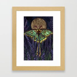 Lavender in Moonlight Framed Art Print