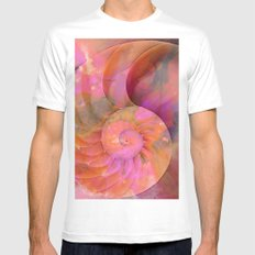 Colorful Nautilus Shell By Sharon Cummings MEDIUM Mens Fitted Tee White