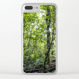 Hiking through the Rainforest on the side of the Mombacho Volcano in Nicaragua Clear iPhone Case