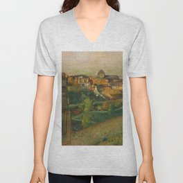 "Edgar Degas ""View of Saint-Valéry-sur-Somme"" Unisex V-Neck"