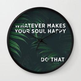 HAPPY SOUL Wall Clock
