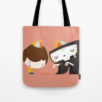 game Tote Bags featuring Game by Alfonso Cervantes