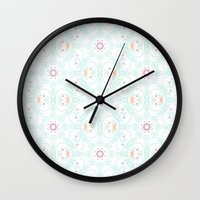 doodle Wall Clocks featuring Doodle by Truly Juel