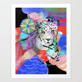 Electric Leopard Art Print