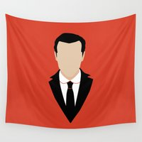 moriarty Wall Tapestries featuring 3 Jim Moriarty by Alice Wieckowska