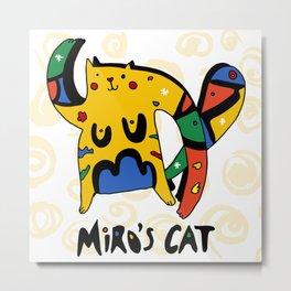 Joan Miro's Cat Metal Print