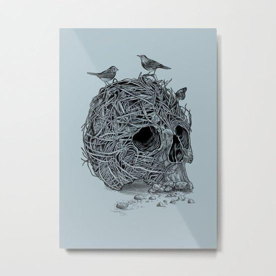 Skull Nest Metal Print