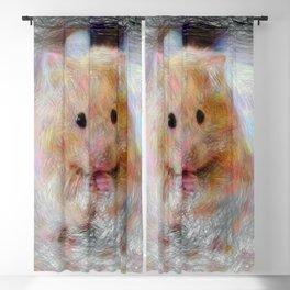 Artistic Animal Hamster Blackout Curtain