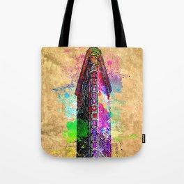 Flatiron Building NYC Grunge Tote Bag