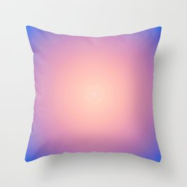 Round Sunset Throw Pillow