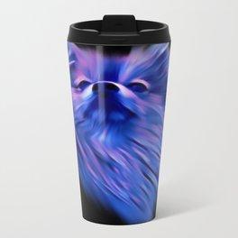 Purple Pomeranian Travel Mug
