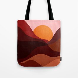 Abstraction_Mountains_SUNSET_Minimalism Tote Bag