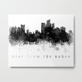 Detroit Rise From The Ashes Metal Print