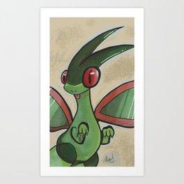 Flygon Art Print