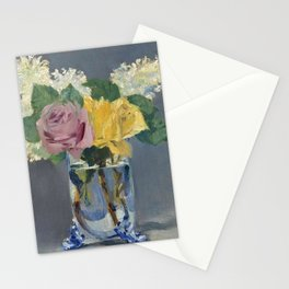 "Édouard Manet ""Lilas et roses"" Stationery Cards"