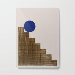 Blue Circle #2 Metal Print