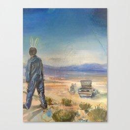 Motor Oil for Suntan Oil Canvas Print